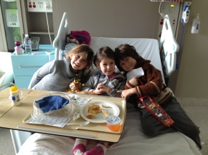 Lelia with her sister and brother at diagnosis